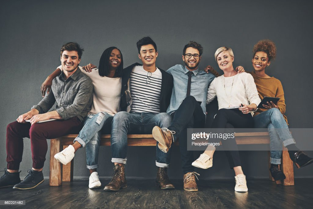 Colleagues that have become friends : Stock Photo