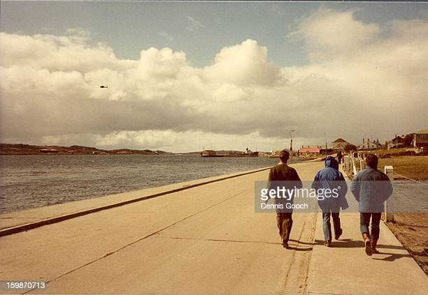 CONTENT] Colleagues walking along Ross Road back to the Malvina House Hotel where we stayed 1983