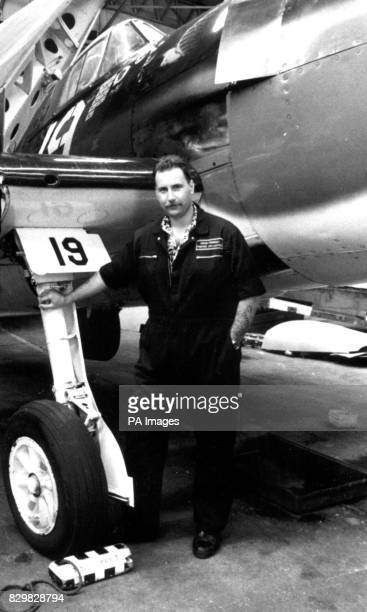 A collect of aircraft fanatic Colin Dunwell taken beside a restored 'Hellcat' fighter in September 1993 He was killedalong with his friend Chris...