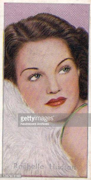 Collectible Carreras tobacco card, Film Stars series, published in 1936, depicting glamorous Hollywood cinema stars, here starlet Rochelle Hudson...