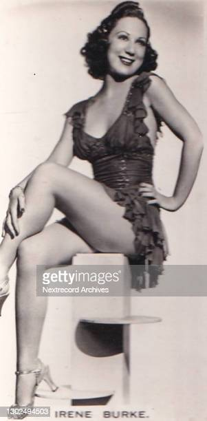 Collectible Carreras tobacco card, Glamour Girls of Stage and Screen series, published in 1939, depicting glamorous Hollywood movie and theater stars...