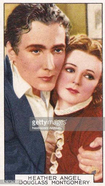 Collectible Gallaher tobacco card Film Partners series published 1935 depicting Hollywood and British film stars as romantic couples in stills from...