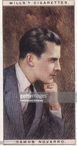 Collectible H O Will's Cigarettes tobacco card, Cinema Stars series, published in 1928, depicting illustrated portraits of glamorous Hollywood and...