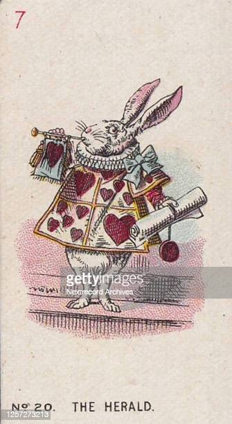 Collectible tobacco card from the 'Alice in Wonderland' series published in 1930 by British cigarette and tobacco manufacturer Carreras Cigarettes...
