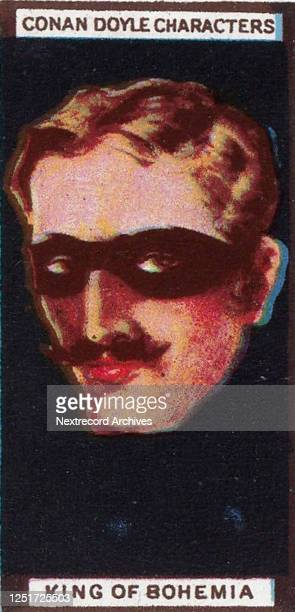 Collectible tobacco card from the series 'Arthur Conan Doyle Characters' published in 1925 with Turf Cigarettes from Great Britain depicting...