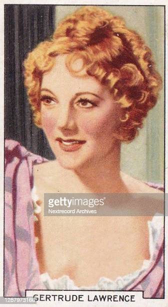 Collectible tobacco card 'Portraits of Famous Stars' series published 1935 by Gallaher Cigarettes depicting cinema and theater stars here Gertrude...