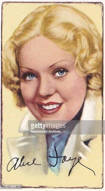 Collectible tobacco or cigarette card, 'Signed Portraits of Famous Stars' series, published 1935 by Gallaher Ltd depicting illustrated British and...