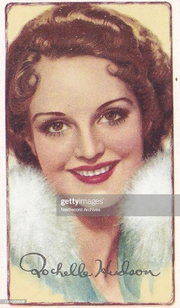 Rochelle Hudson, Signed Portraits of Famous Stars, collectible Gallaher cigarette card, 1935 : News Photo