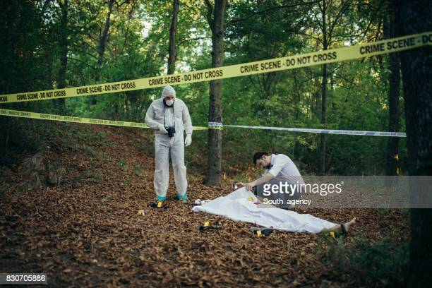 Collecting evidence on crime scene
