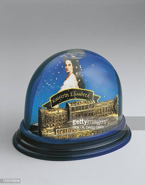 Collecting Snowglobes Austria Vienna Souvenir Schloss Schonbrunn Castle and Empress Elisabeth