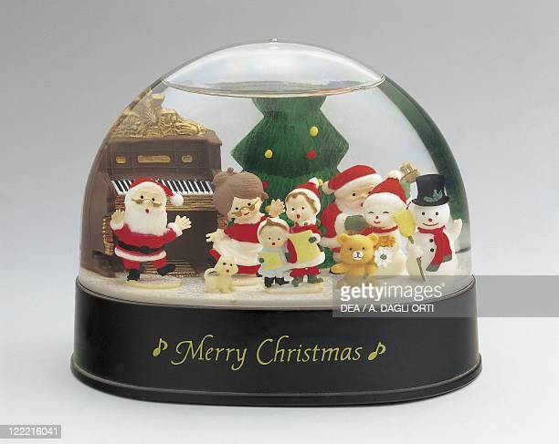 Collecting Snowglobes Christmas Theme Plastic