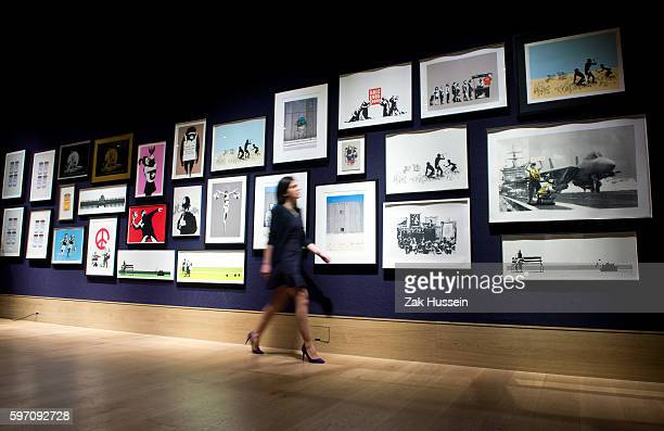 """Collection of 30 Banksy prints owned by English gallery owner, Steve Lazarides, formally the agent of Banksy, part of the """"Founded 1793"""" auction at..."""