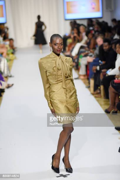 Collection of Adebayo Jones -a London based Fashion Designer also called the godfather of African fashion in Toronto, Canada on 19 August 2017.