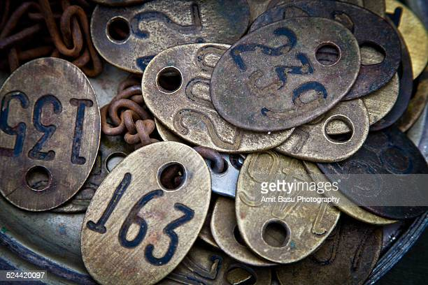 Collection of antique dog tags