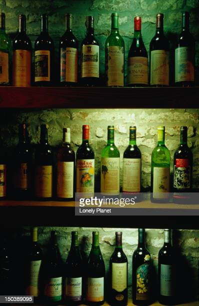 Collection of Argentinian wines on display at Club del Vino, Palermo Vlejo.