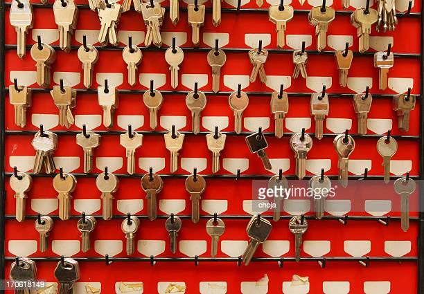collection of assorted keys - locksmith stockfoto's en -beelden