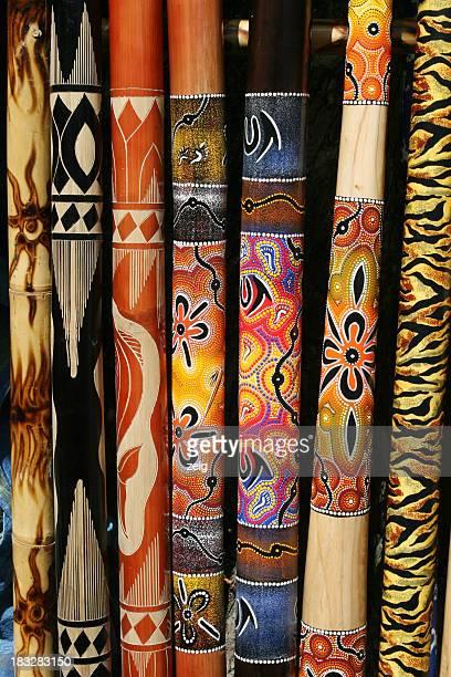 Collection of Australian didgeridoos