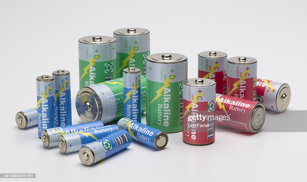 Collection of batteries : Foto stock