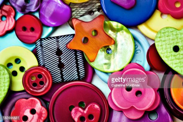 collection of buttons - catherine macbride stock pictures, royalty-free photos & images