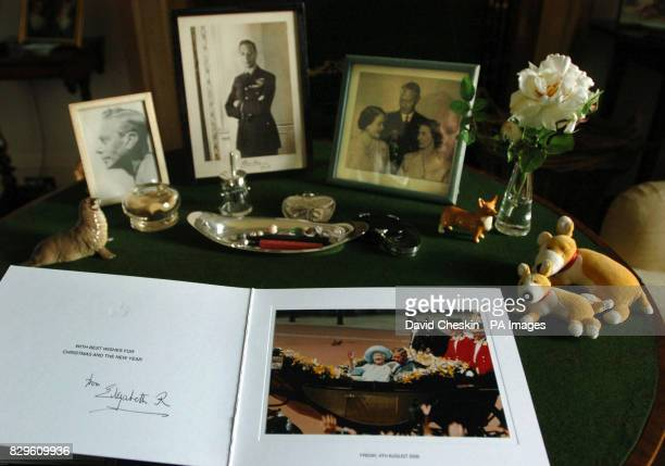 A collection of Christmas cards sent and personally signed by the Queen Mother was unveiled today at the Scottish castle she held dear to her heart