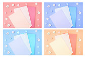 collection colored backgrounds valentines day background
