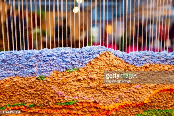 collection of colored carpets of cotton - loom stock pictures, royalty-free photos & images