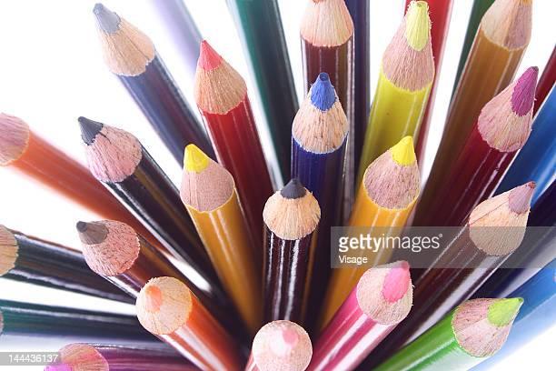 collection of colouring pencils - colouring bildbanksfoton och bilder