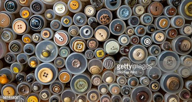 collection of cothing buttons - 裁縫道具 ストックフォトと画像