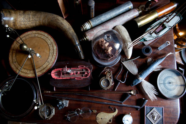 A collection of curios at the Snowshill Manor in Snowshill, England.