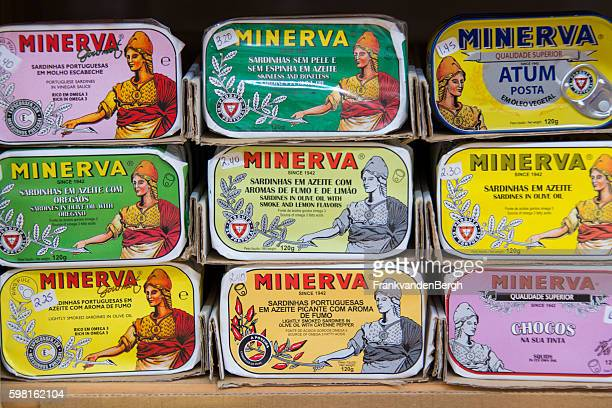 Collection of different brands of canned sardines