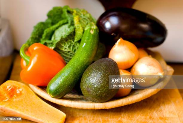 collection of fresh mediterranean vegetables - lyn holly coorg stock pictures, royalty-free photos & images