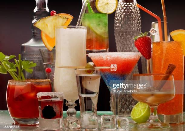 collection de cocktails de fruits