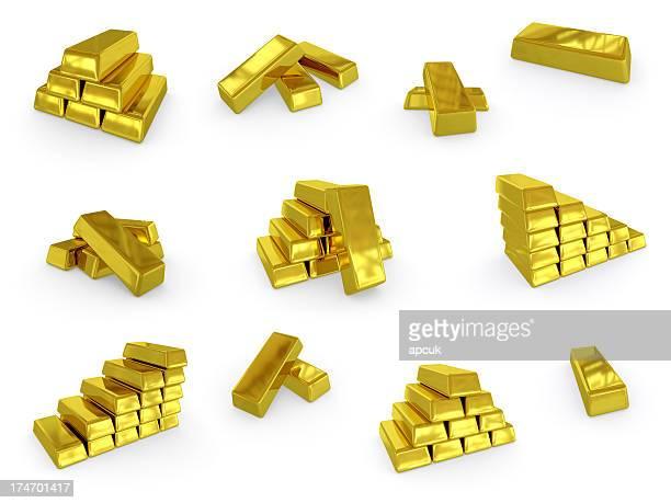 Sammlung von gold ingots.