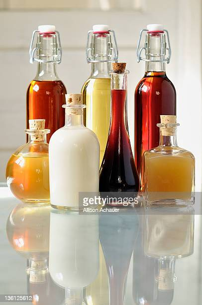Collection of homemade liqueurs