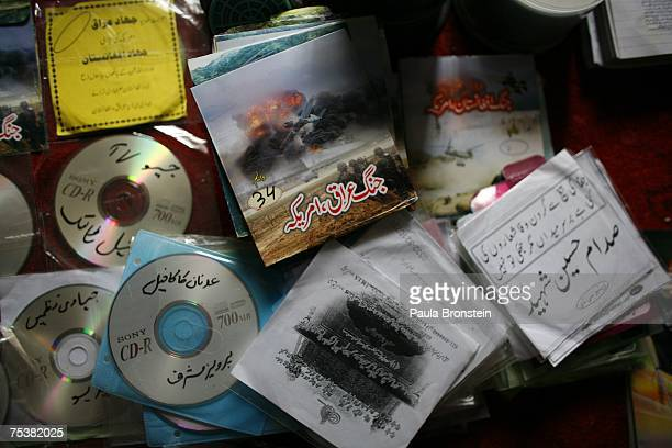 A collection of Jihad CDs preaching militant Islam found inside the destroyed Red Mosque on July 12 2007 in Islamabad Pakistan Government reports...