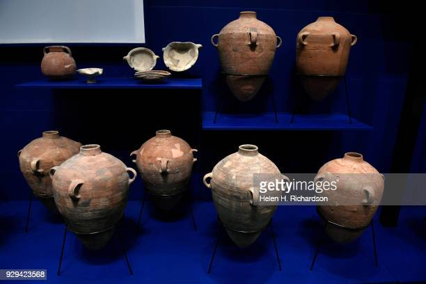 A collection of large pots and jars from the 7th and 8th century BC are part of the upcoming Dead Sea Scrolls exhibit opening soon at the Denver...