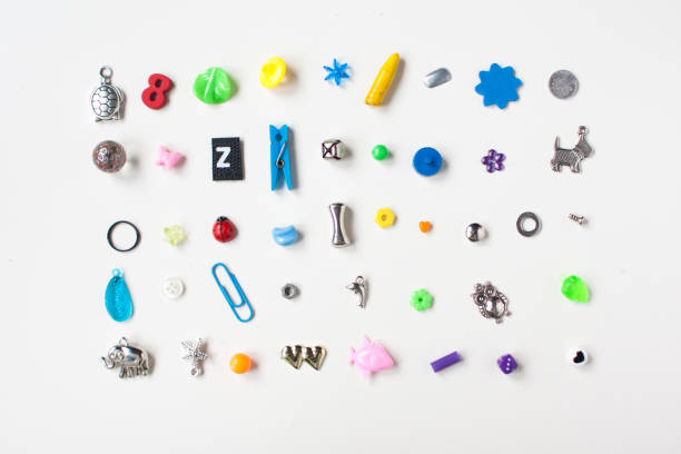 collection of little tiny objects knolling