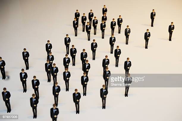 Collection of miniature groom figurines