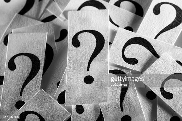 a collection of paper question marks - questions stock pictures, royalty-free photos & images