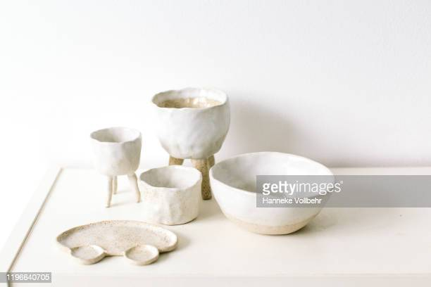 collection of quirky ceramic objects - collection stock pictures, royalty-free photos & images