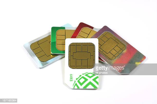 Collection of SIM cards