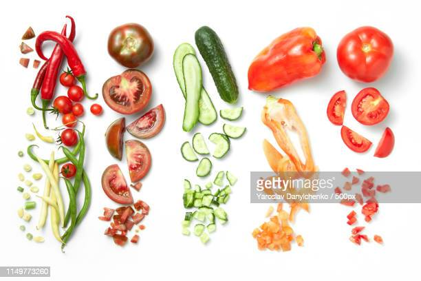 collection of vegetables isolated on white background - aliment en portion photos et images de collection