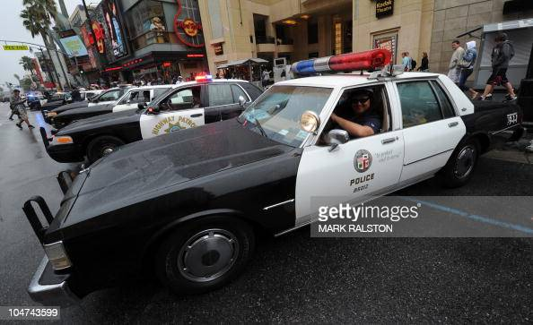a collection of vintage police cars and pictures getty images. Black Bedroom Furniture Sets. Home Design Ideas