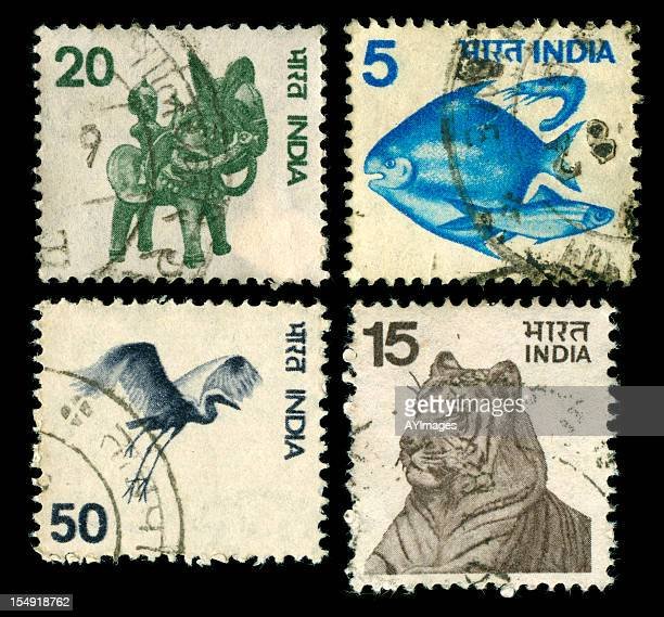 Collection of vintage stamps from India