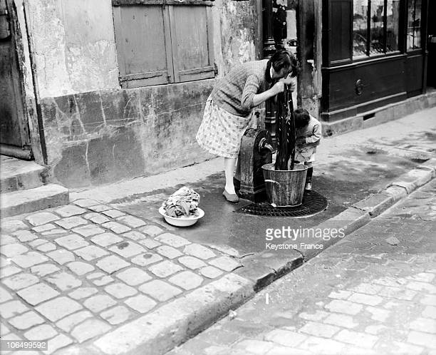 Collection Of Water In A Fountain Of Montmartre Paris To 1928