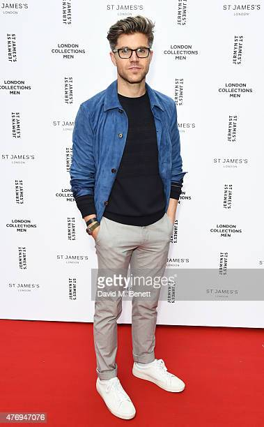 Collection Stylist Darren Kennedy attends the Jermyn Street St James's catwalk show for London Collections Men on June 13 2015 in London England