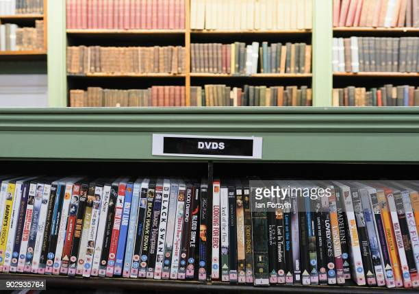 Collections of DVD's are available along with books inside the Leeds Library on January 9 2018 in Leeds England This year sees the 250th anniversary...