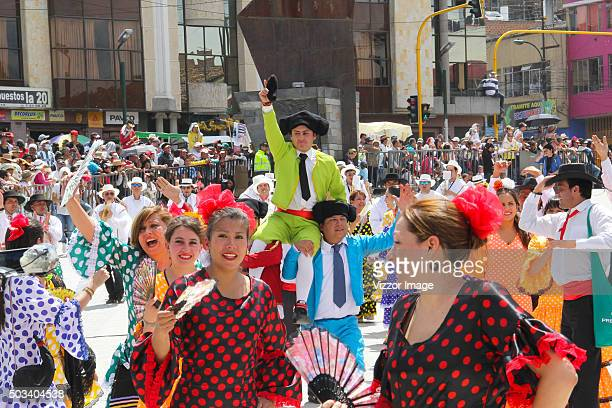 Collective parade of La Familia Castañeda as part of the Blacks and Whites Carnival on January 04, 2016 in Pasto, Colombia. On September 30, 2009...