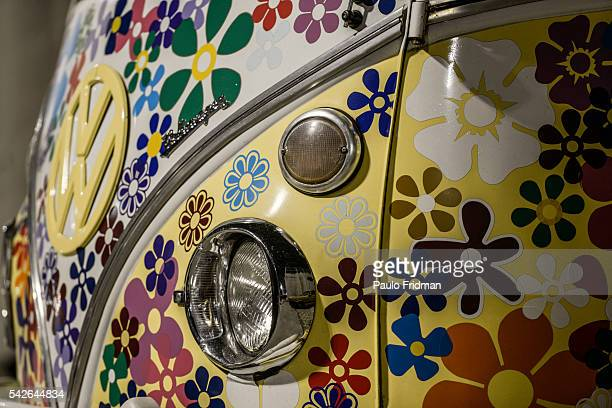 Collector 'Kombi 'at the Auto Show Collection Sambodromo on August 20th Sao Paulo Brazil Only Brazil still produces the classic 56yearold VW camper...