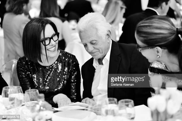 Collectors Committee Chair Ann Colgin and Maurice Marciano attend LACMA 2017 Collectors Committee Gala at LACMA on April 22 2017 in Los Angeles...